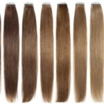 layout of the best tape in hair extensions